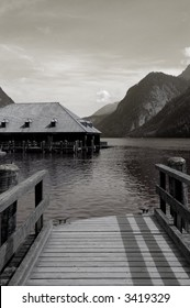 View from dock at St. Bartholomae in Koenigsee