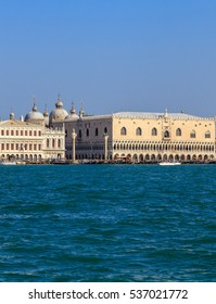 View of the Doge's Palace with the Giudecca Canal in Venice