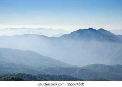 View from Doi Inthanon, the highest peak of Thailand