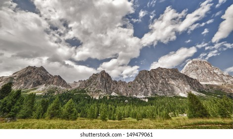 view of DOLOMITES of Cortina d'Ampezzo