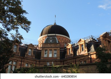 A view of the dome at Greenwich Observatory in London