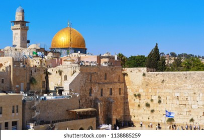 View of the Dome of the Rock and the Western Wall in the Old City - Jerusalem - June 2015