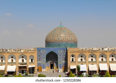View of the dome of Sheikh Lotfollah Mosque in Isfahan, Iran