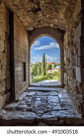 View from the door of a Crusaders castle in jubail (Byblos) Lebanon