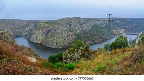 View of the Douro river near Miranda do Douro, Portugal