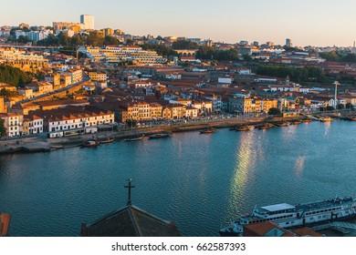 View of Douro river, Porto, Portugal.