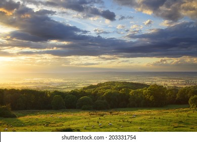 View from Dovers Hill near Chipping Campden, Gloucestershire, England.