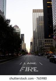 View down park avenue corner of 50th street, manhattan, new york, america, usa