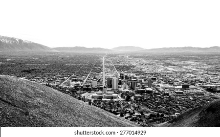 A View down State Street in Salt Lake City, Utah.