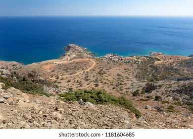 View down to the village of Agios Ioannis, in the south of Crete