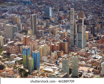 View of the downtown of Bogota, Colombia.