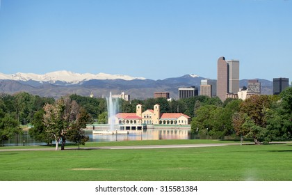 A view of downtown Denver from City Park