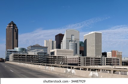 A view of downtown Des Moines Iowa.