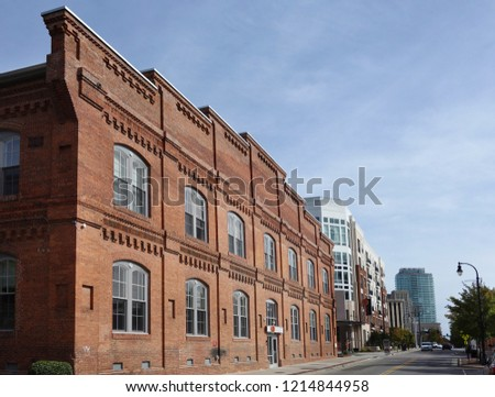 View Downtown Durham Showing Former Tobacco Stock Photo Edit Now