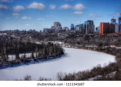 View of downtown Edmonton, Alberta, 2018