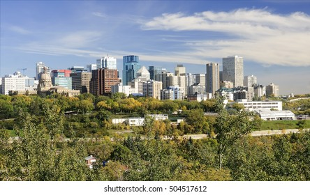 View of downtown Edmonton (Canada, Alberta)