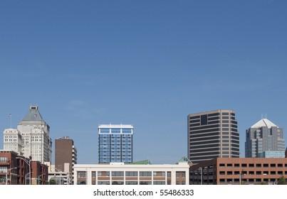 A view of downtown Greensboro, North Carolina.