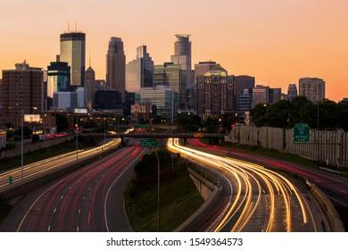 View of downtown Minneapolis, Minnesota.