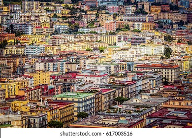 A view of downtown Naples, Italy
