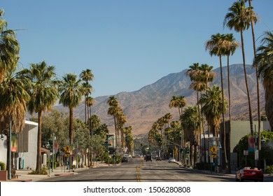 View of Downtown Palm Springs, California.