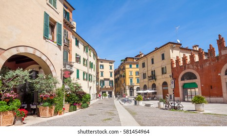 View of the downtown streets in Verona