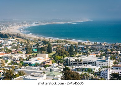 View of downtown Ventura and the Pacific Coast from Grant Park, in Ventura, California.