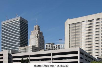 A view of downtown Winston-Salem, North Carolina.