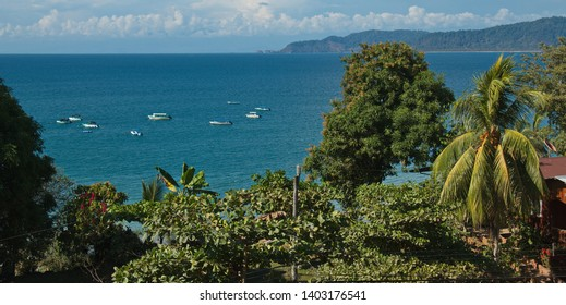 View of Drake Bay in Corcovado NP on peninsula Osa in Costa Rica