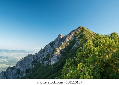 The view from the Drei Schwesterns mountains looking over Switzerland, Liechtenstein and Austria