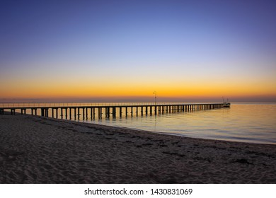 View of Dromana pier on sunset