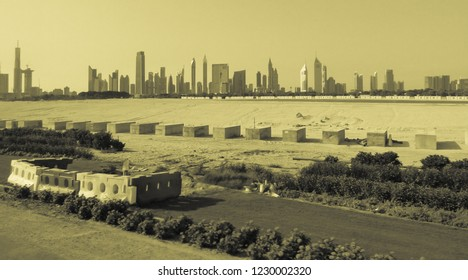 View of Dubai City from afar