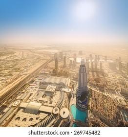 View of Dubai downtown from the top, Dubai, UAE