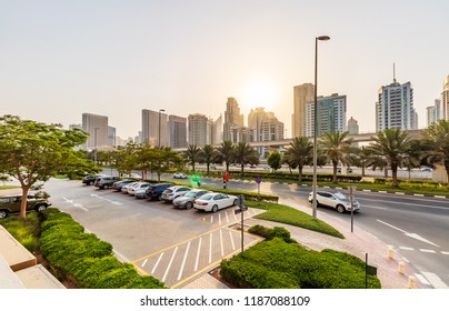 View of the Dubai Marina from JLT Area. Dubai - UAE. 20 July 2018