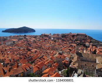 View of Dubrovnik from the city wall Croatia