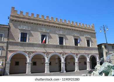View of Ducal Palace, Pesaro Italy