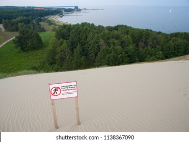 View from dune in Neringa. Lithuania.