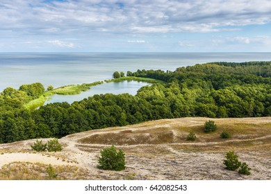 View of dunes and Baltic Sea. Curonian Spit.
