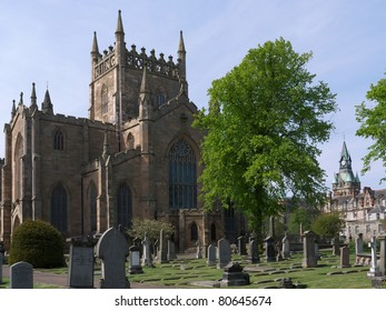 A View of Dunfermline Abbey Church in Fife, Scotland, United Kingdom