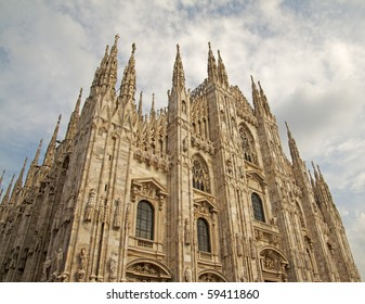 View of Duomo of Milano, one of the most important monuments of christianity