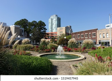 View of Durham, North Carolina from a Downtown Park