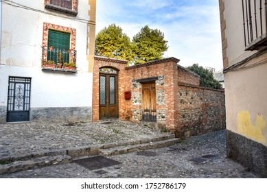 View of the dwellings in the Albaicin district, Granada, Andalusia