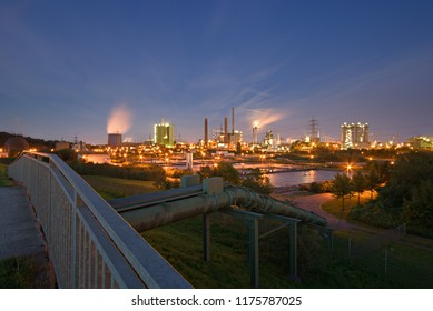 View from a dyke in Duisburg, Germany.