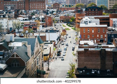 View of Eager Street, in Mount Vernon, Baltimore, Maryland.