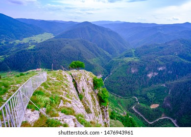 View from Eagle's eye:  a sightseeing platform built at 1563 meters above the sea level, next to the St Ilia peak in the Rhodope mountains