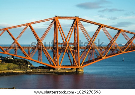 A View From The East Footpath Of Forth Road Bridge Looking Over North Queensferry