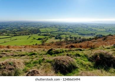 View East from Ysgyryd Fawr (Skirrid Fawr), Abergavenny, Monmouthshire, Wales