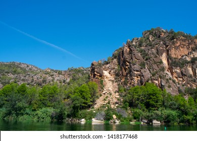 a view of the Ebro River as it passes through Benifallet, Spain