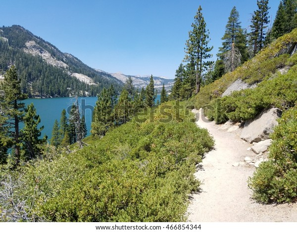 View of Echo lake from Tahoe rim trail/Pacific crest trail