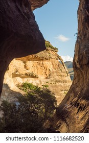 The view from Echo Ravine, a sandstone gorge at Golden Gate in the Free State Province of South Africa