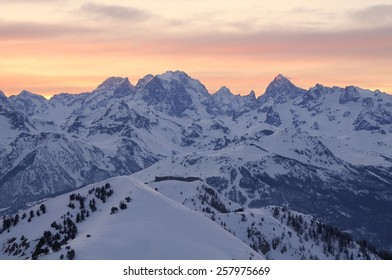View of the Ecrins massif , France